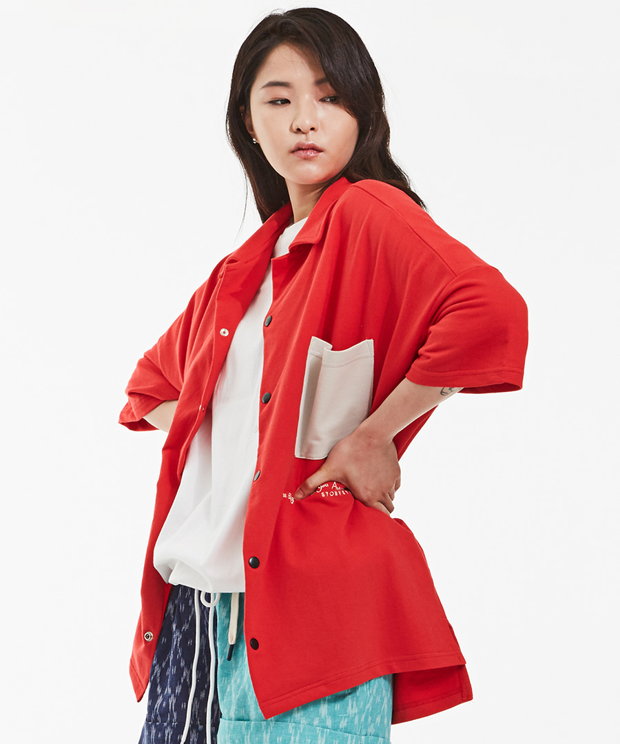 OTHER POCKET OVER SHIRTS - RED