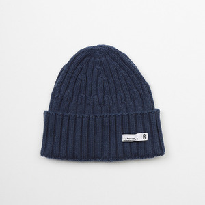 WOOL KNIT BEENIE - NAVY