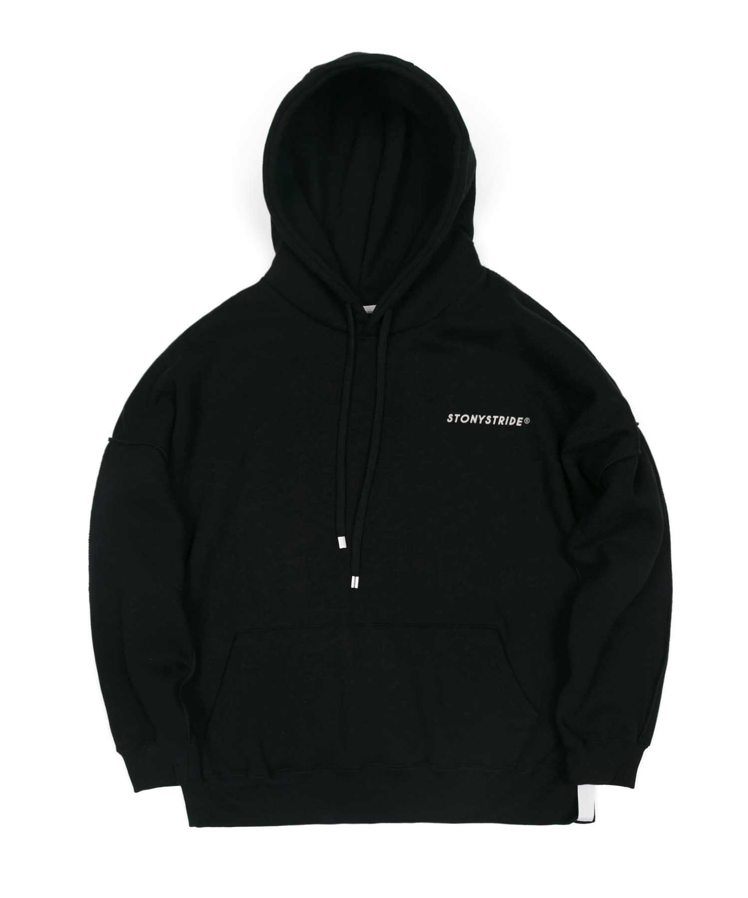 INSIDEOUT STITCH OVER HOODIE - BLACK