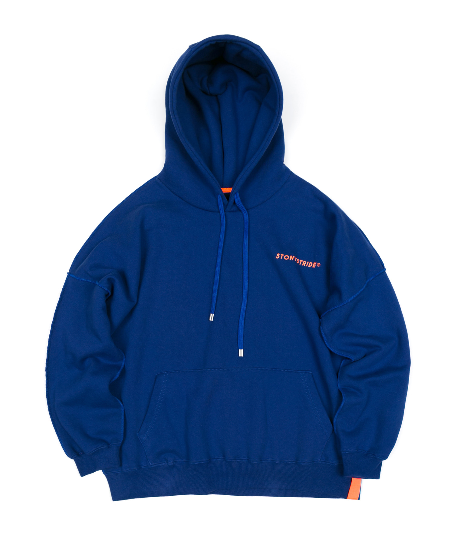 INSIDEOUT STITCH OVER HOODIE - NAVY