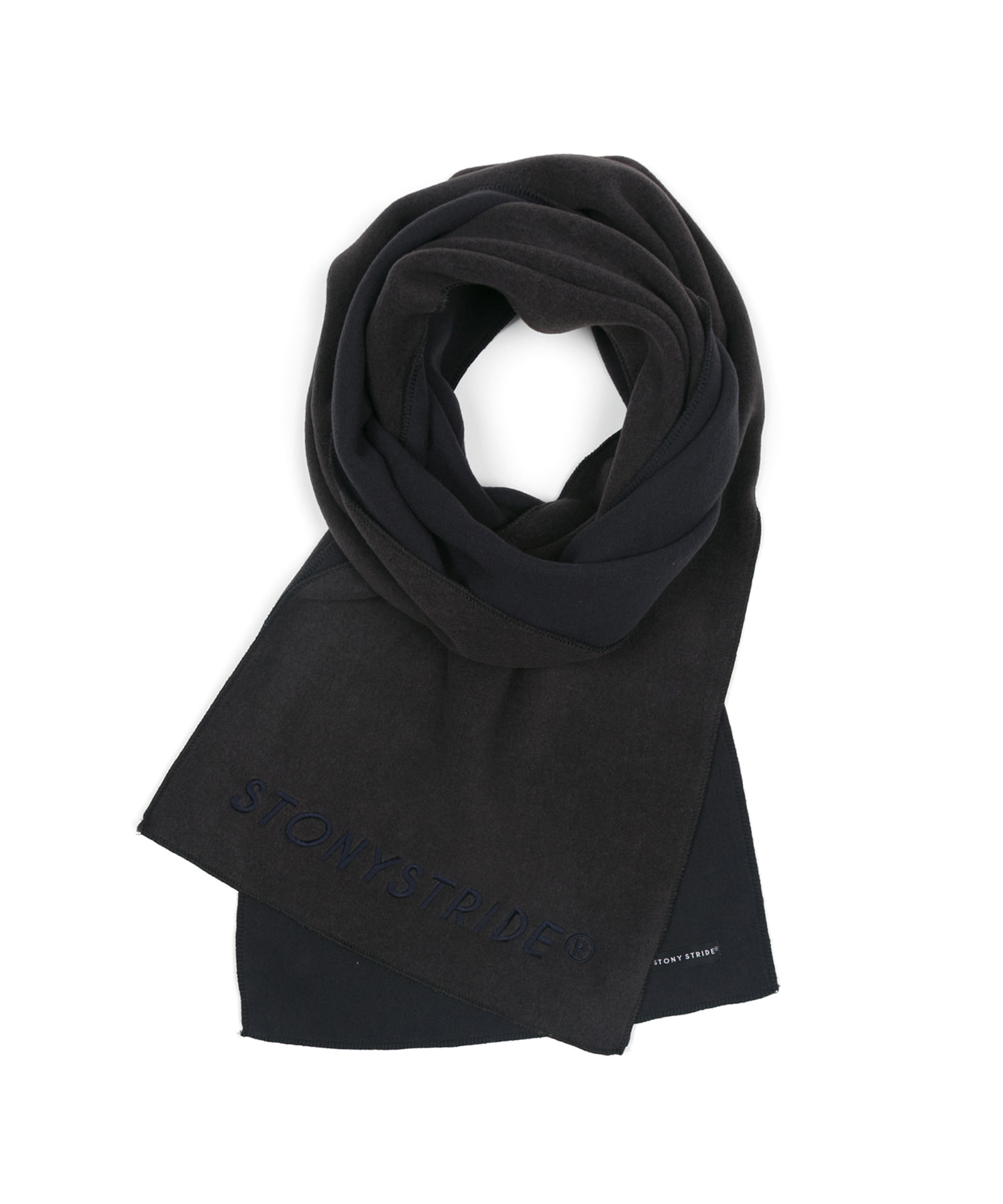 TWO TONE FLEECE MUFFLER - BLACK