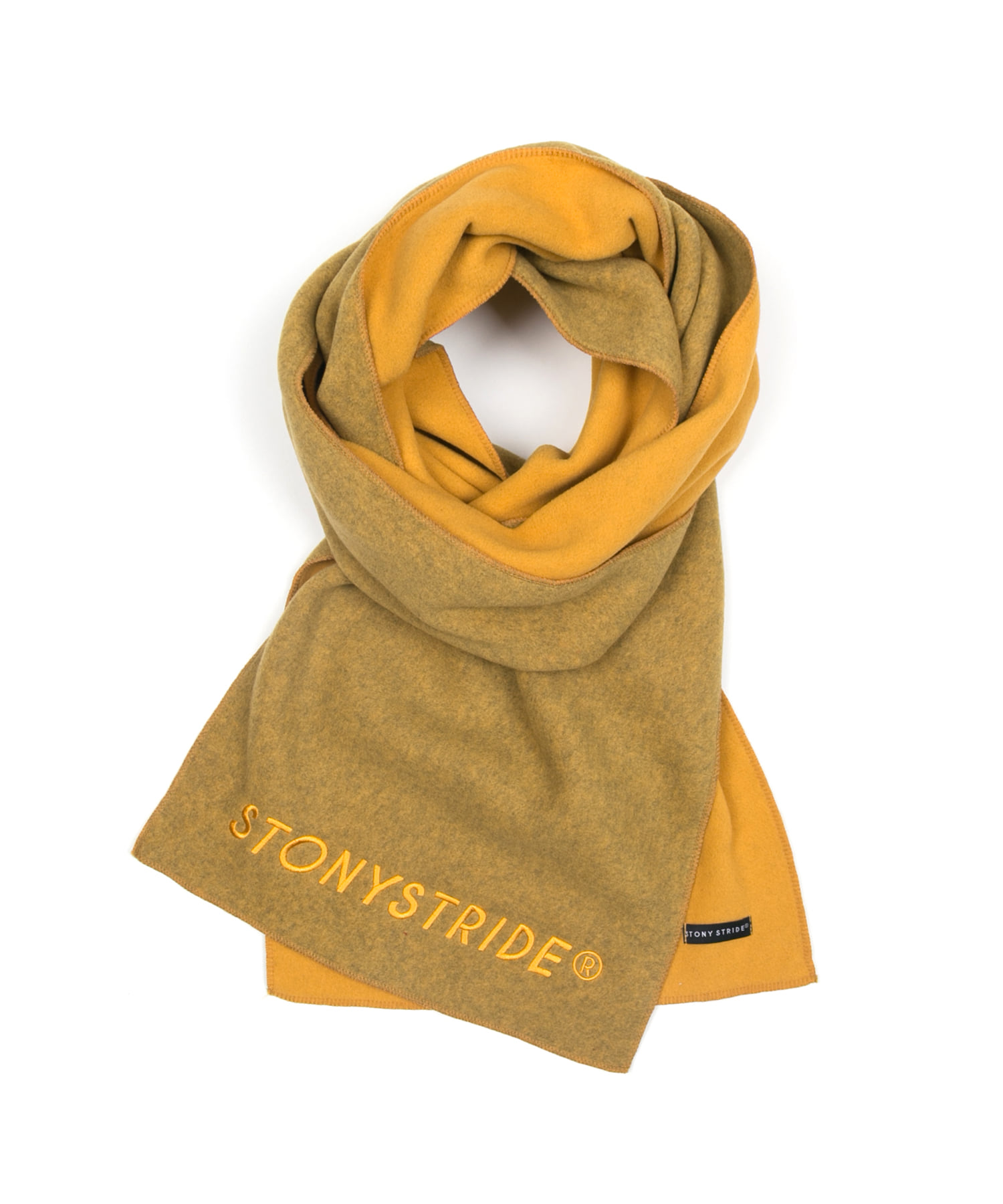 TWO TONE FLEECE MUFFLER - MUSTARD