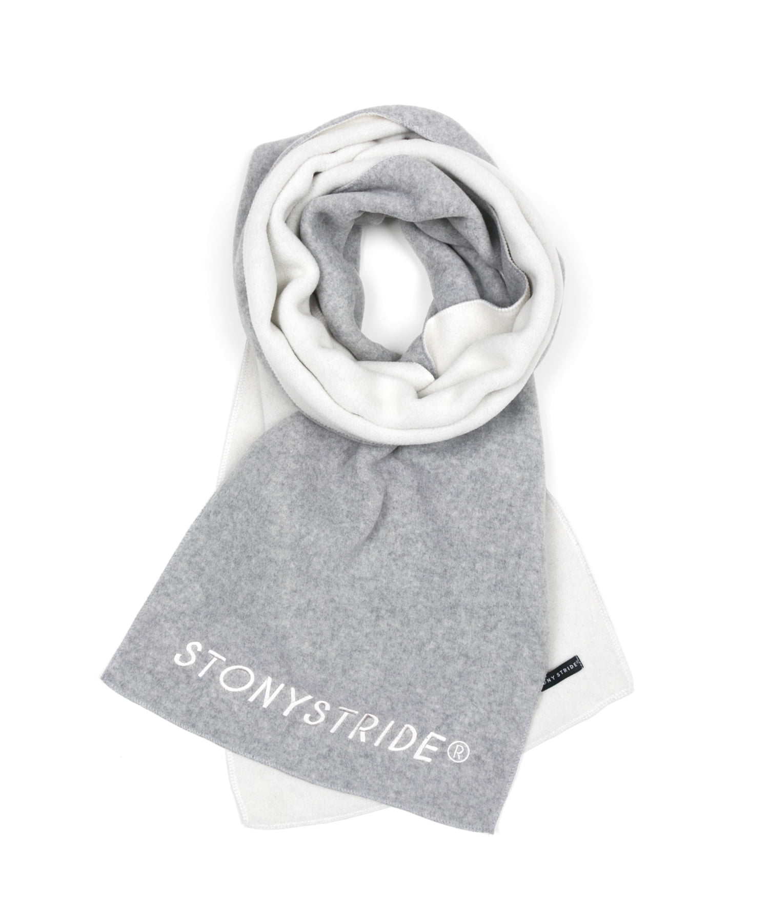 TWO TONE FLEECE MUFFLER - GRAY