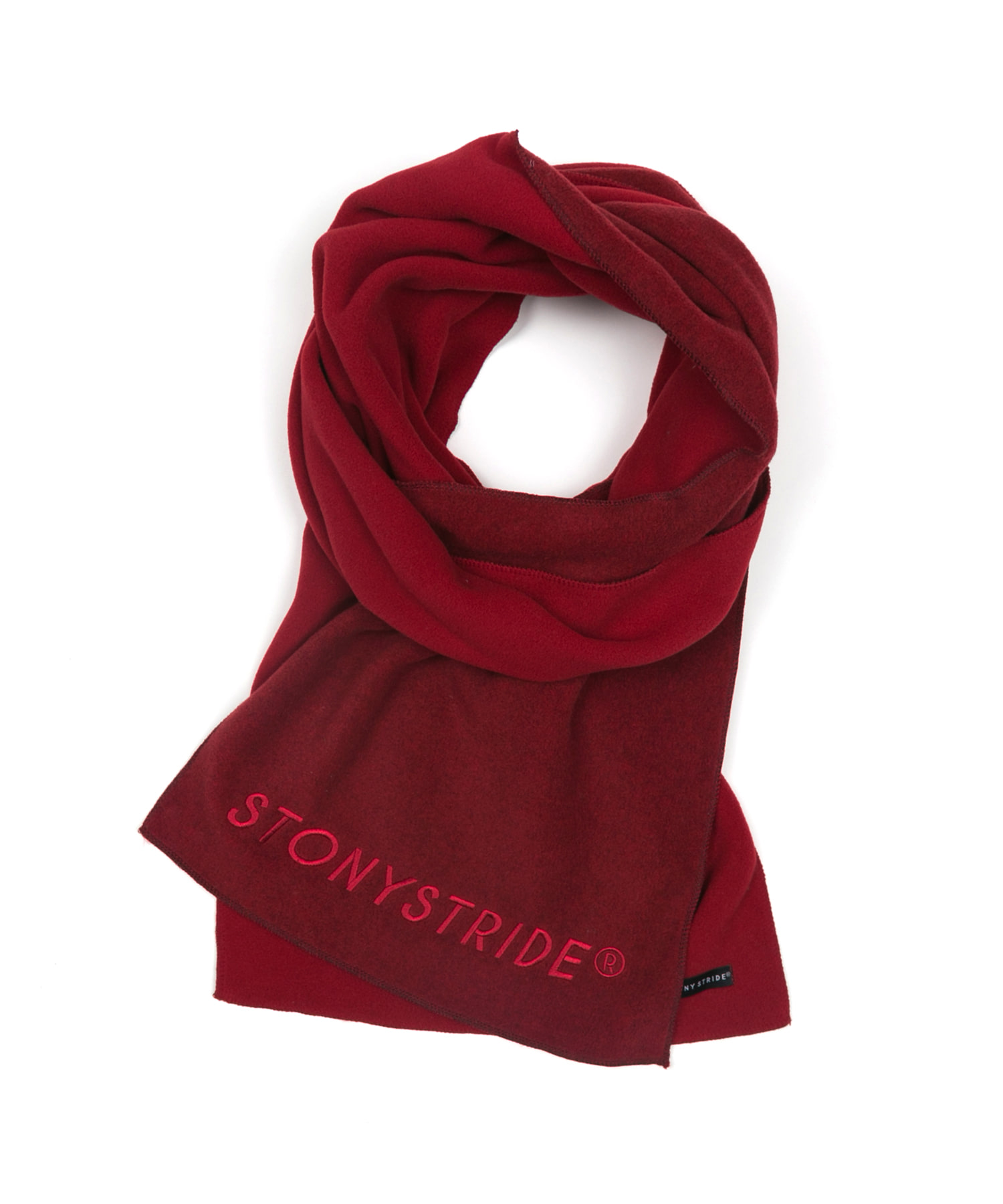 TWO TONE FLEECE MUFFLER - WINE