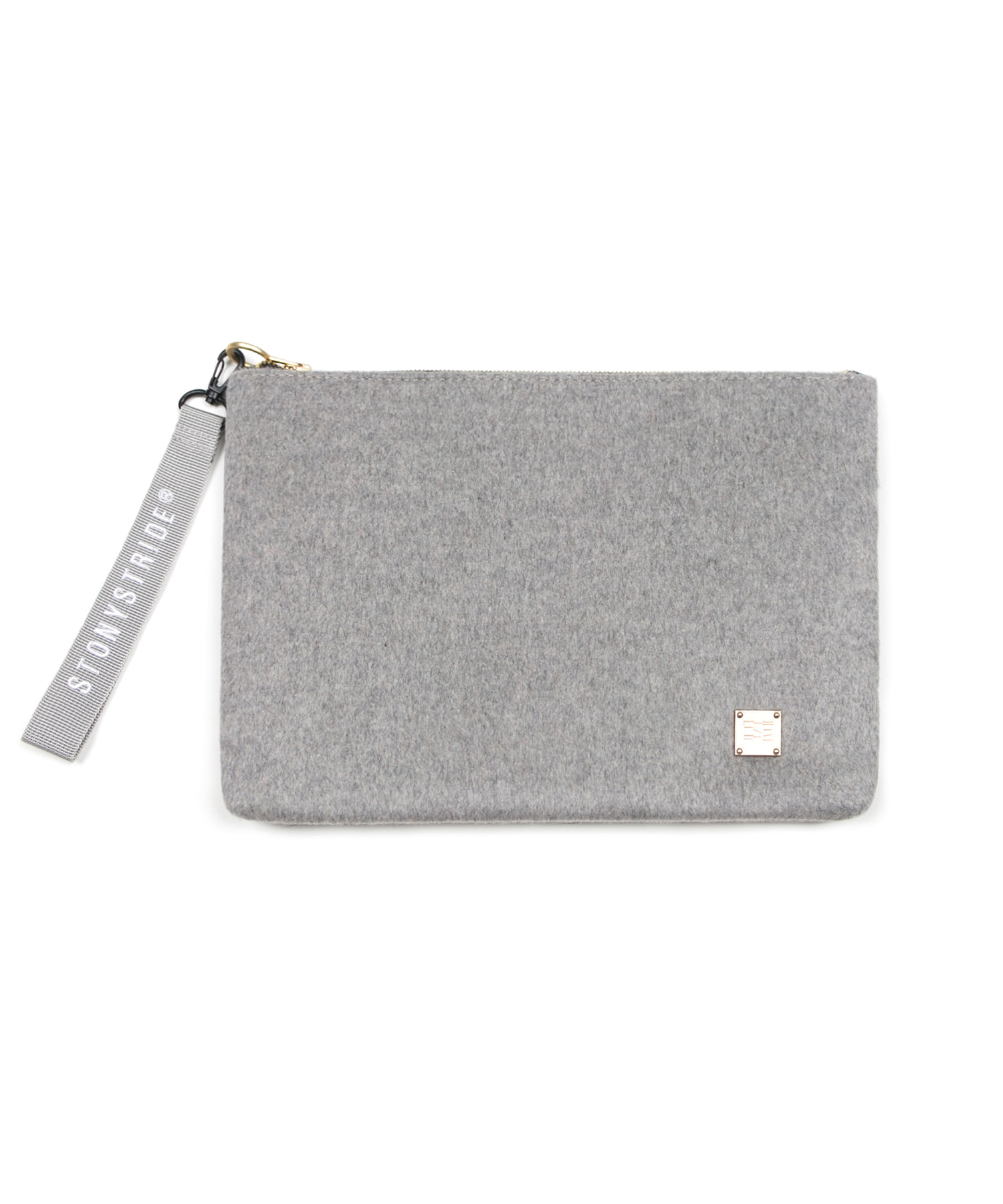 Delicate wool clutchbag - gray