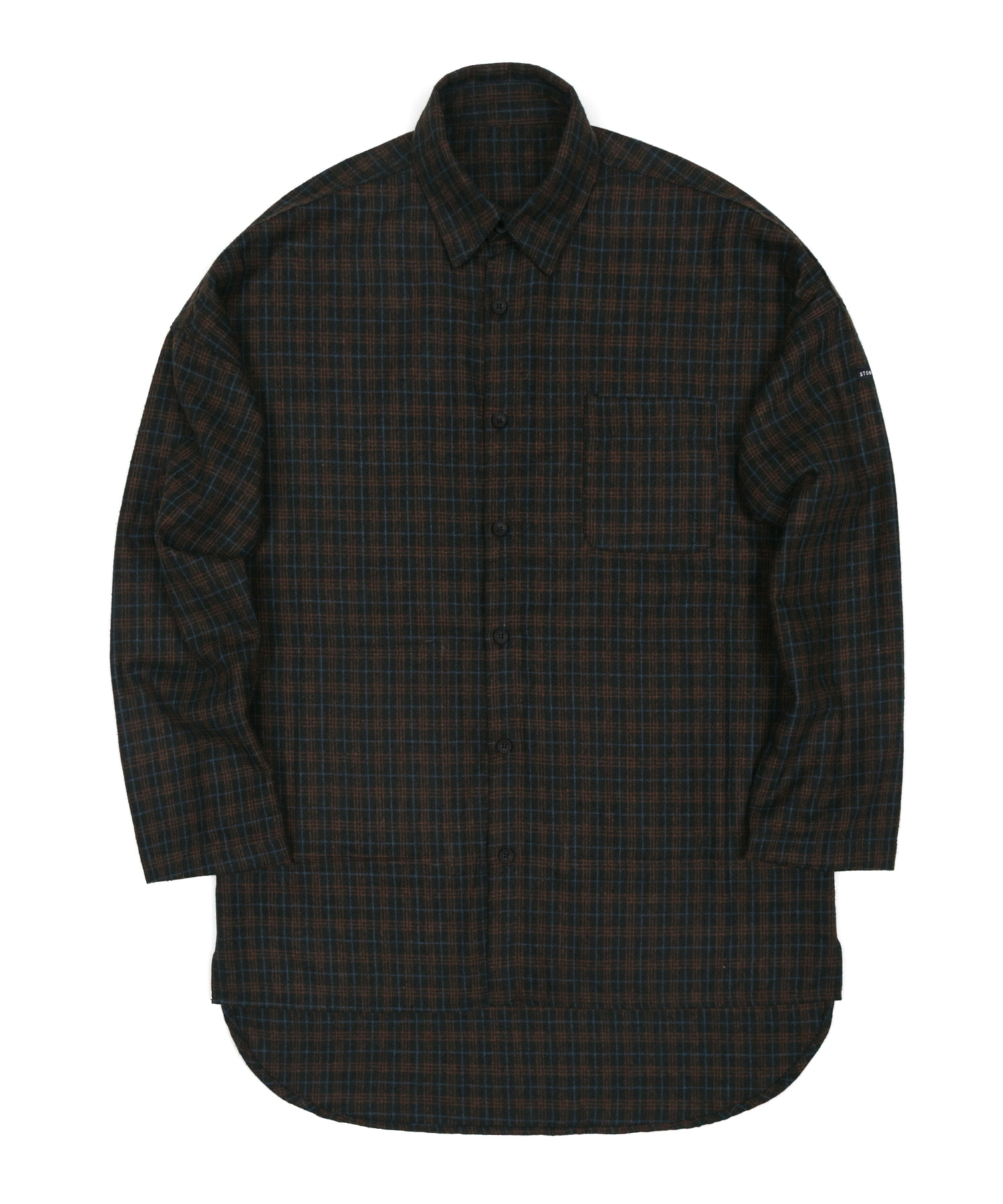 FLANNEL CHECK LONG SHIRTS - BROWN
