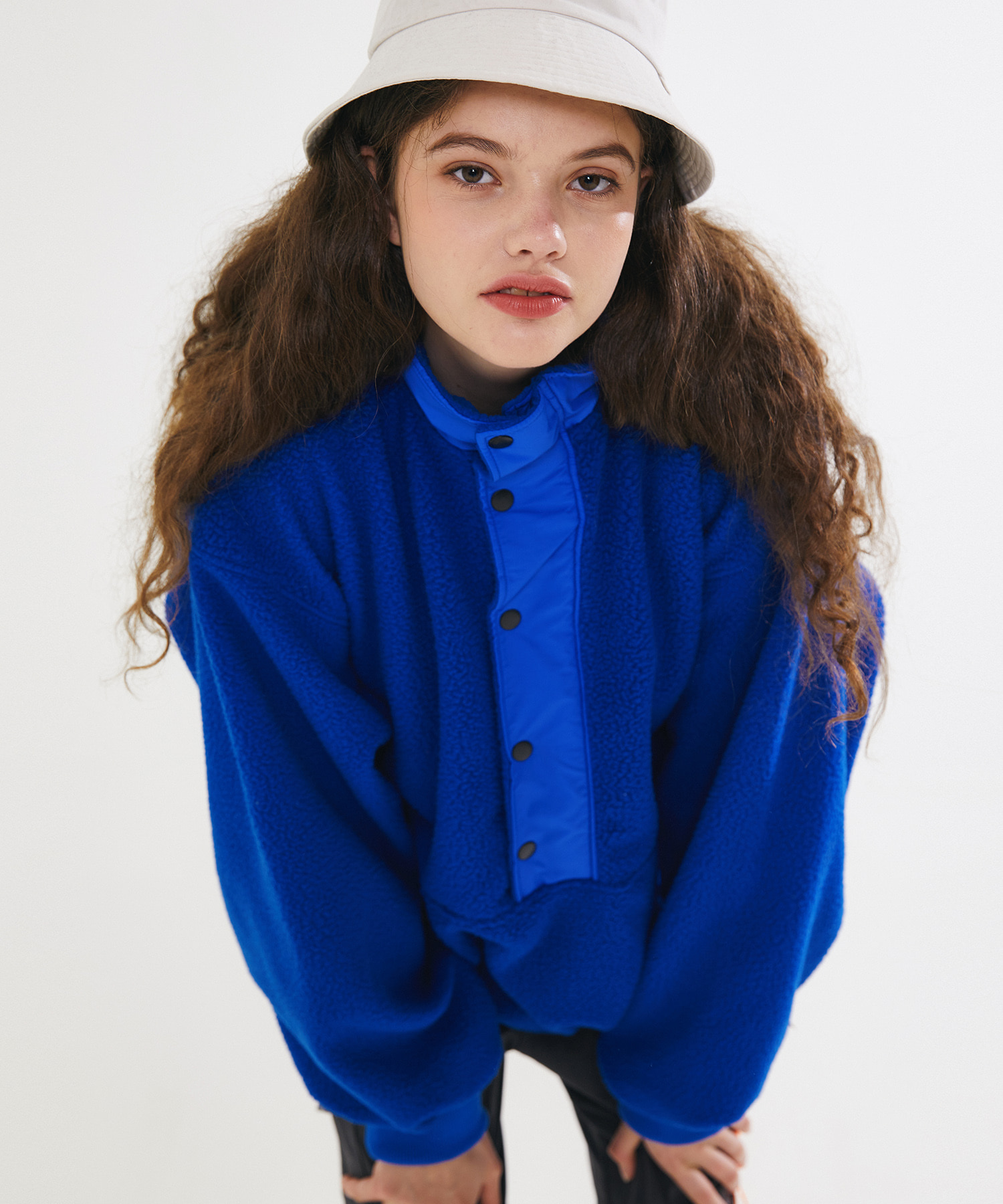 BOA FUR FLEECE ANORAK - BLUE
